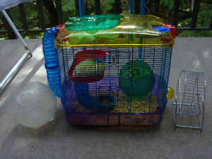 Hamster cage and free aceessories