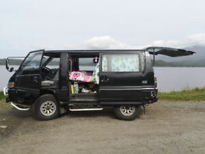 Fully equiped mini campervan Mitsubishi DELICA 1995 LOW milage