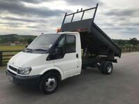 2006 06 FORD TRANSIT 90 T350 MWB 2.4 10 FT 6 STEEL TIPPING BODY 108TH MILES
