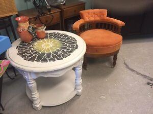 Peach antique chair