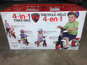 Brand New Rollplay 4-in-1 Trike Bike / Tricycle