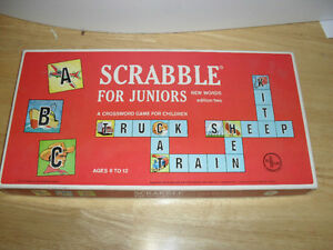 Vintage 1960's Scrabble Junior-by Selright-Reduced