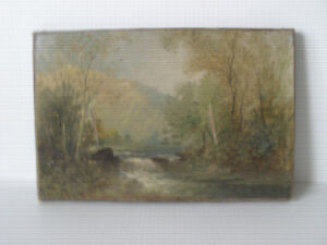 OLD OIL PAINTING - LANDSCAPE