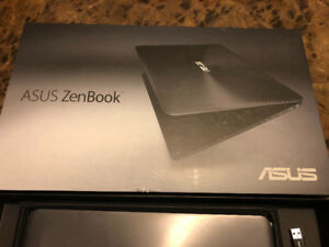 "Asus Zen book Like New 13.3"" Ultra Thin With Cary bag and cover"