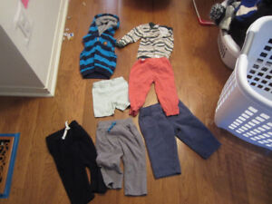 12M girls and boys baby clothes and outerwear