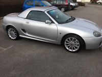 MG TF Convertible Silver with hard top