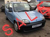 2002 FIAT SEICENTO 1.1i S low insurance grp new MOT