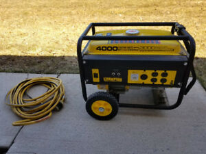 4000 watt Generator never used and cord paid $300 asking $150