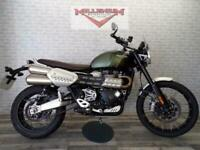 2018 TRIUMPH SCRAMBLER 1200 XC FOR SALE WITH RAD GUARD AND SUMP PLATE.