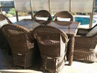 Set patio style rotin de qualité supérieure