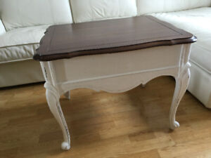 White French provincial coffee table, wood
