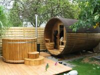 WOODEN HOT TUBS AND SAUNAS - CHEAPEST IN IRELAND. WE INSTALL ANYWHERE IN NI, 2 MAN SAUNA FROM €1800