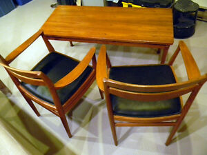 table et chaises - mid century moderne / retro / antique
