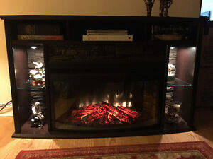 Electric heating fireplace/TV stand