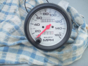 "AUTO METER 3 3/8"" PHANTOM WHITE FACE SPEEDOMETER"