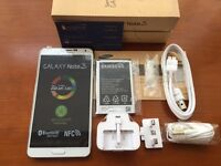 Sim free brand new Samsung Note 3 with full accessories sealed box