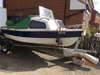 Boat and engine working 2007 15 Hp motor