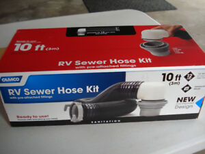 Camco 10ft RV sewer hose kit new in box.