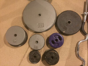 Cast Iron Barbell Set - 250 LBS OF PLATES