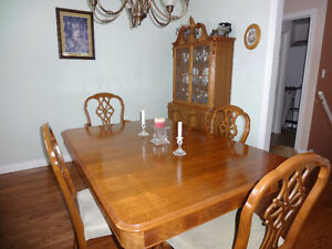 Antique Walnut Dining Room Set - 9 pc