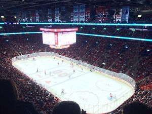 4x Montreal Canadiens BILLETS tickets 2ieme RANGEE BLANC colles