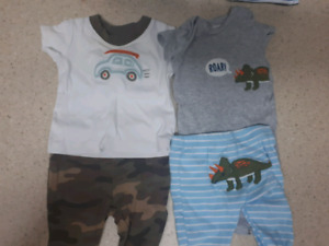 Boys 0-3 months size 6 outfits +bathing suits