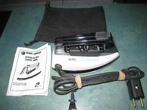 Travel Steam Iron Black and Decker
