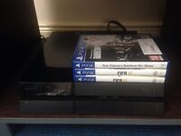 Ps4 with 4 games, 2 controllers, 1 headset