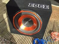 Edge subwoofer & wires