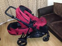 Britax B-Dual buggy with carry cot and rain cover in good condition