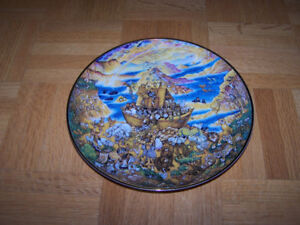 TWO BY TWO COLLECTOR PLATE BILL BELL NOAH'S ARK BIBLICAL SCENE