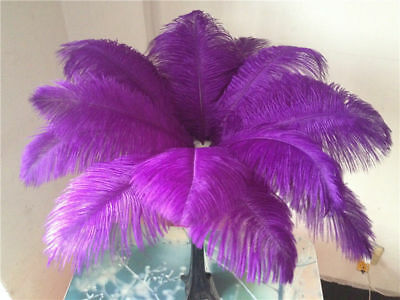 10-200 pcs high-quality natural ostrich feathers 6-24 inch/15-60cm - Purple Feather