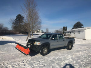 2006 Toyota Tacoma and plow