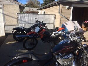 Motorcycles and dirt bike for sale