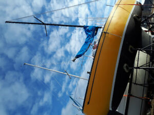 24 foot fin Keel sailboat