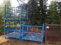 Heavy duty steel cages/storage bins/shelving/dolliies/lift