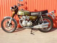 HONDA CB350 FOUR 1973 MOT'd DECEMBER 2018