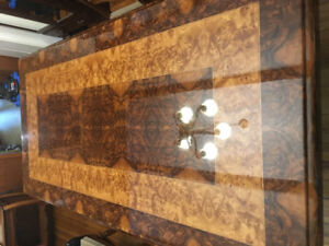 """Custom dining room table one of a kind. 48""""X96"""" maple and walnut"""