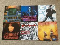 "Rock & Metal 7"" vinyl records"
