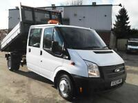 63 REG FORD TRANSIT CREW D/CAB DROPSIDE TIPPER, 125PS, EURO 5, CLEANEST IN UK!!