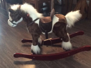 Rocking horse with batteries