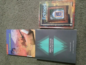 Upgrading books for Math 30-1 and English 30-2 for sale
