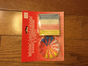 BIRTHDAY CANDLES AND HOLDERS NEW IN PACKAGE