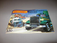 Matchbox Diecast Cars Collector Club Catalog 1982 / 1983
