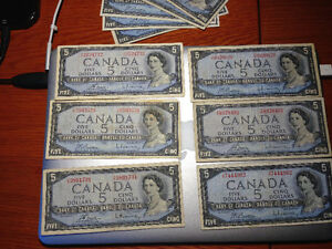 Lot of 1954 Banknotes West Island Greater Montréal image 4