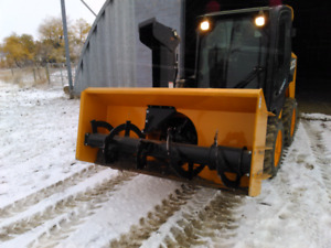Skidsteer snowblower