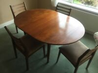 Retro Solid Teak dining table and chairs