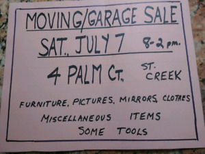 Moving/Garage Sale