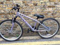 "Apollos 24"" wheel, pink/purple Mountain Bike, Gears, good condition."