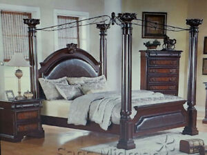 KING SIZE CANOPY BED-Astoria Grand